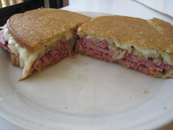 I salute you reuben.  Hell of a sandwich