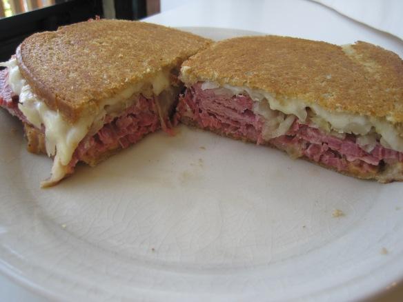 I salute you reuben.  Hell of a sandwich