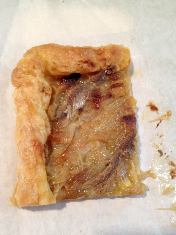 Those strip malls house small restaurants that make items like pissaladiere from Paris Bakery.  That's a croissant-like pastry rolled out and topped with onions cooked down in olive oil and anchovies.  Like the most confusing and buttery delicious pizza you've ever had